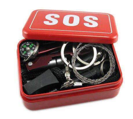 Первая помощь вязаные открытый SOS выживания инструменты первой вязать портативное устройство все-в-один сет для кемпинга туризм self-вождения