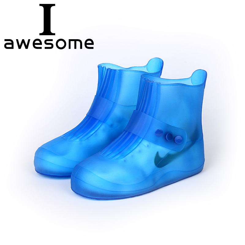 a476677d4 Zapatos impermeables cubierta 5 colores calidad antideslizante cubierta de  zapatos de lluvia para hombres mujeres niños zapatos elásticos  reutilizables ...