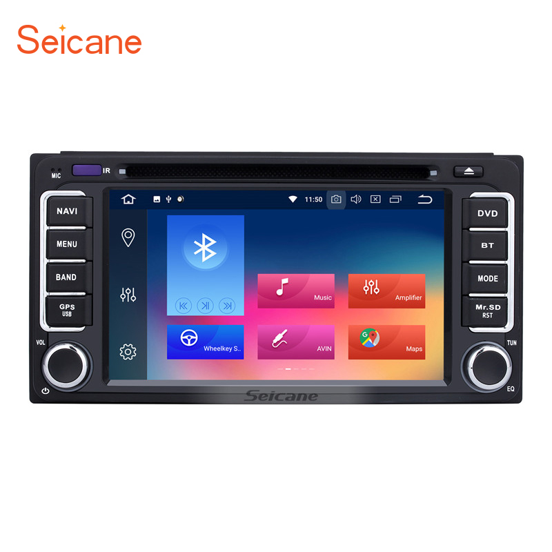 Seicane Universal Android 8.0 6.2 inch Car DVD Radio GPS Multimedia Player For Toyota CAMRY Corolla YARIS Vitz HIGHLANDER