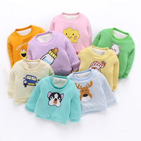 Cute Baby Boy Clothes Infant Tops And Tees Cartoon Baby Girl Thick T Shirt Toddler Newborn