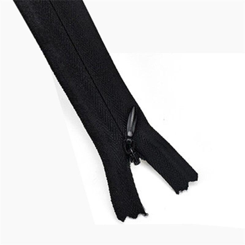 100 шт. 25 см длинные невидимые молнии DIY нейлон катушки молнии для шитья одежды брюки сумки пенал и craft 4 вида цветов