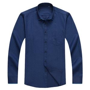 Image 2 - 큰 크기 셔츠 남자 10xl 11xl 12xl 옥스포드 인쇄 캐주얼 남자 셔츠 긴 소매 영국 스타일 플러스 szie 셔츠 남자 75 150 kg