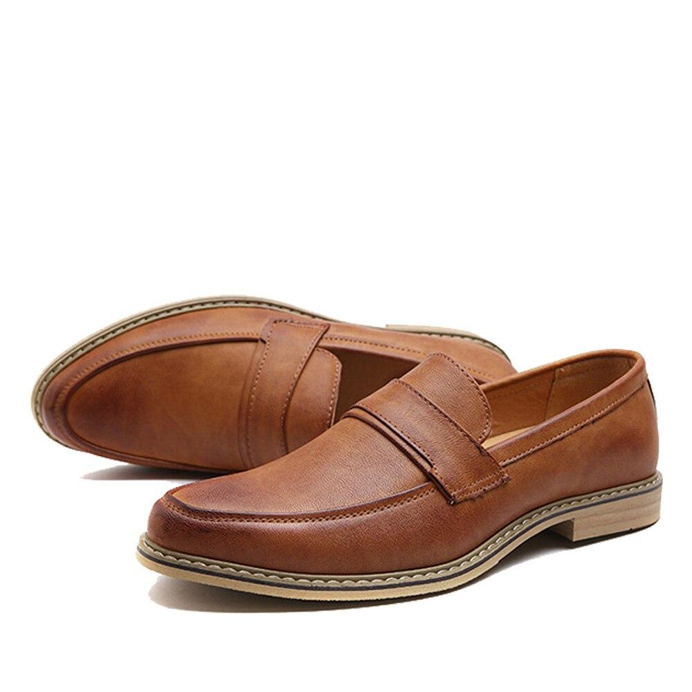 2017 De Pu En Oxford Mocassins Casual Nouvelle Hombre Chaussures Zapatos Appartements Robe Plat brown D'affaires Hommes Npezkgc Marque Cuir white Black IdBB4