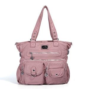 Image 5 - Multi Pocket Luxury Soft PU Leather Shoulder Bags for Women Large Capacity Shopping Crossbody Hobo Bags European Tote Handbag