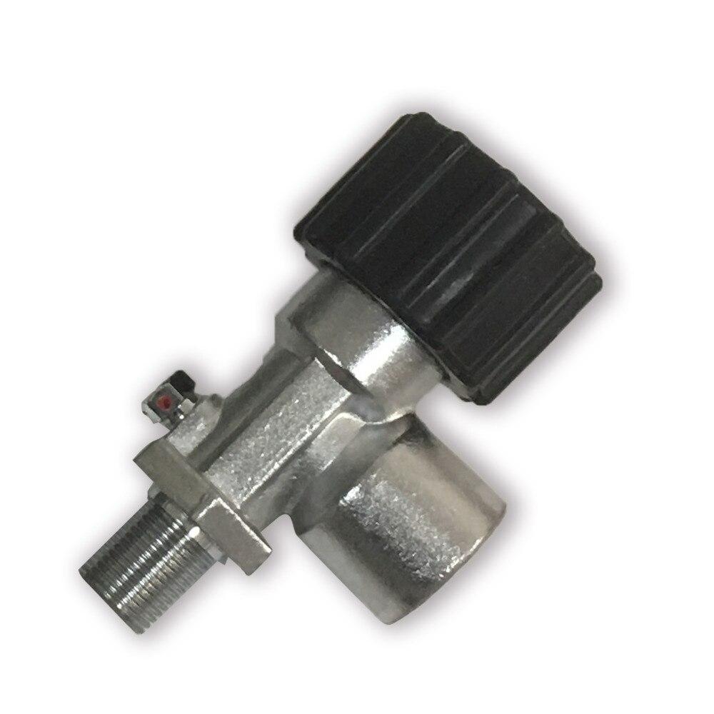 Bouteille de bouteille d'air de réservoir d'air de Fiber de carbone entièrement emballées à haute pression de cylindre de gaz de Valve de Pcp M18 * 1.5