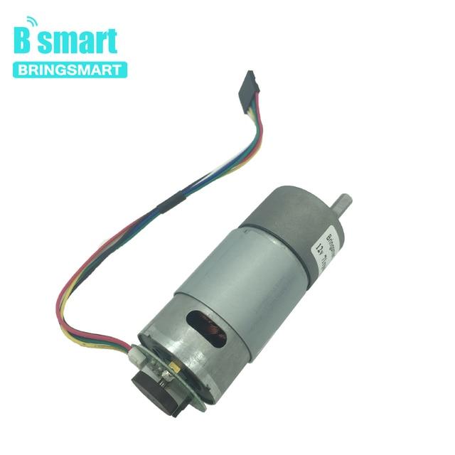 Bringsmart JGB37-555B DC Gear Motor 12V Motor Encoder Disk Mini Motor with Encoding Board Micro Speed Measuring Motor