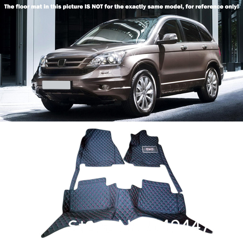 Interior Leather Custom Waterproof Car Styling Auto Front & Rear Car Floor Mats & Carpets For Honda CRV CR-V 2007 08 09 10 11 auto floor mats for honda cr v crv 2007 2011 foot carpets step mat high quality brand new embroidery leather mats