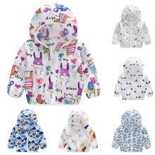 Baby Girl Jacket Boy Hooded Coat Sunscreen Baby Clothes Jacket Baby Boys Girls Long Sleeved Summer Kids Clothes Outwear 2019(China)