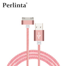 Perlinta 1M Nylon USB Cable Data Transmit And Charging For iPhone 4s iPad 2 3(China)