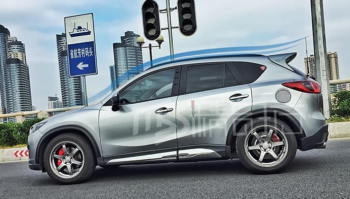 DAMD style 4 pièces/ensemble apprêt non peint FRP jupes latérales de carrosserie de voiture pour Mazda CX-5 2012-2018, forage nécessaire