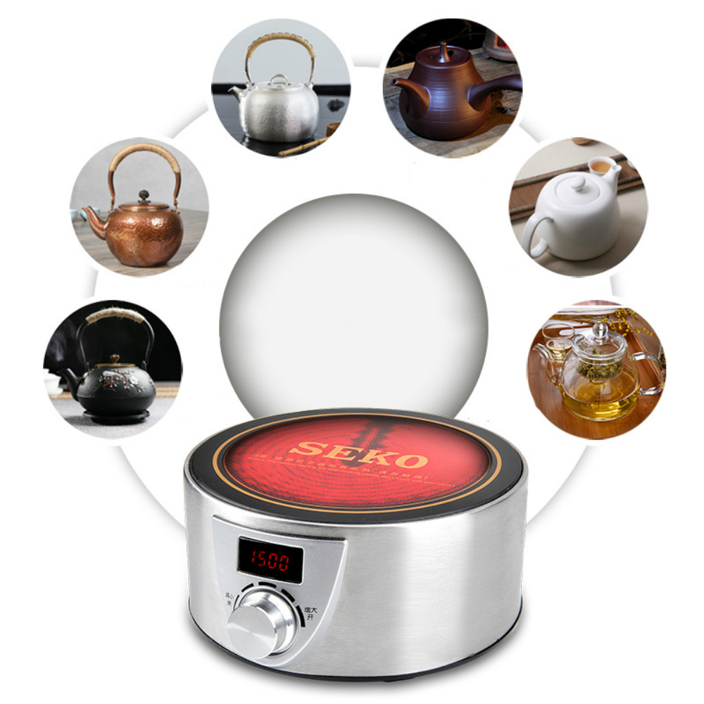 Q9A 1500W High Power Electric ceramic heaters Electric tea stove Household kettle Tea maker cheap electric ceramic heaters for household small mini tea kettle tea cooker mute iron furnace