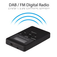 New Hot Portable DAB/DAB+/FM Radio LCD Pocket Digital DAB Receiver Rechargeable Battery