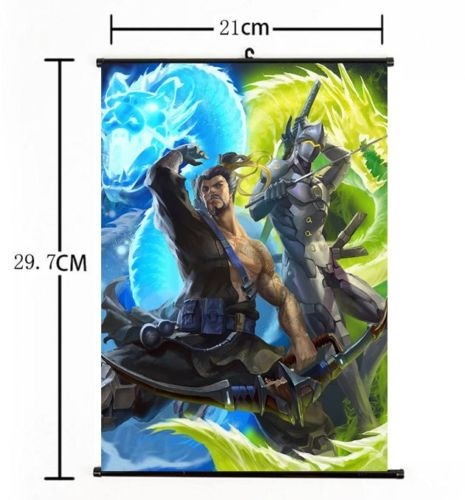 Blizzard Game Overwatch OW Hanzo Genji Japan Anime 60*90cm Wall Scroll Poster