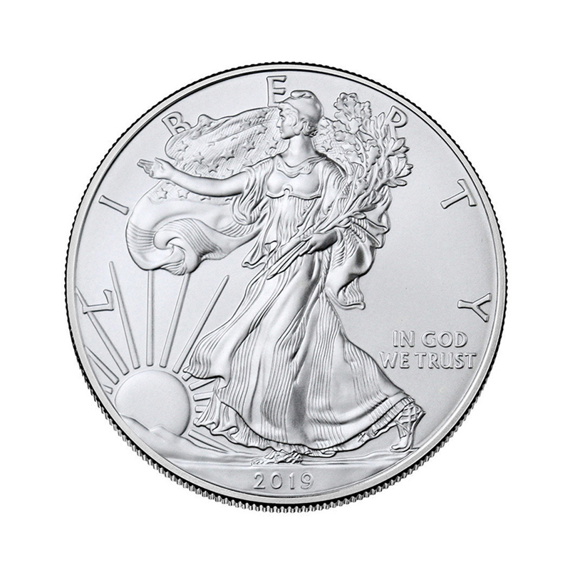 2019 New Toys Silver Goddess Of Liberty 1 US Dollar Eagle Coins Commemorative Collection Coin 2019