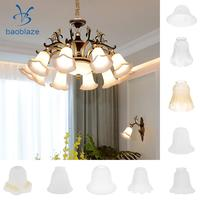 3 Pieces #6 Frosted Glass Ribbed Bell Light Shades Chandelier Lamp Pendant