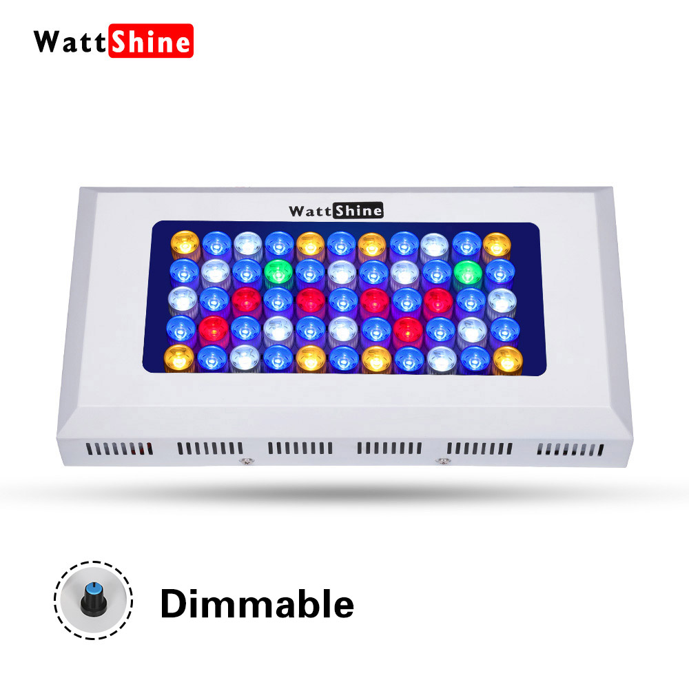 165W LED Aquarium Light Dimmable Full Spectrum for Coral Reef Grow Fish Tank Freshwater Saltwater Marine Tanks Free hanging kit