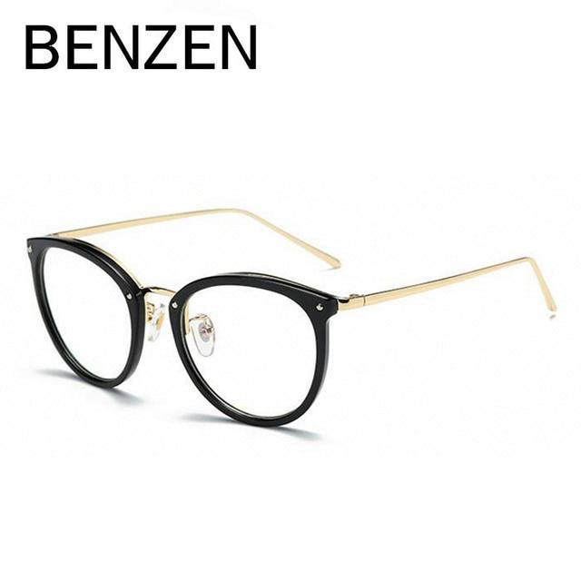 benzen glasses frames women designer eyeglasses frames vintage ladies optical myopia reading glasses frame with case - Womens Designer Eyeglass Frames