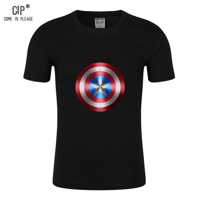 f3cd5557 100%Cotton Fashion Brand Captain America Shirt kids Marvel The Avengers  Shield Printed Tshirt for