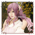 Wig cosplay 60cm Long hair Pink+purple Color mixing Gradient Harajuku Soft sister lolita daily wigs free shipping No headwear