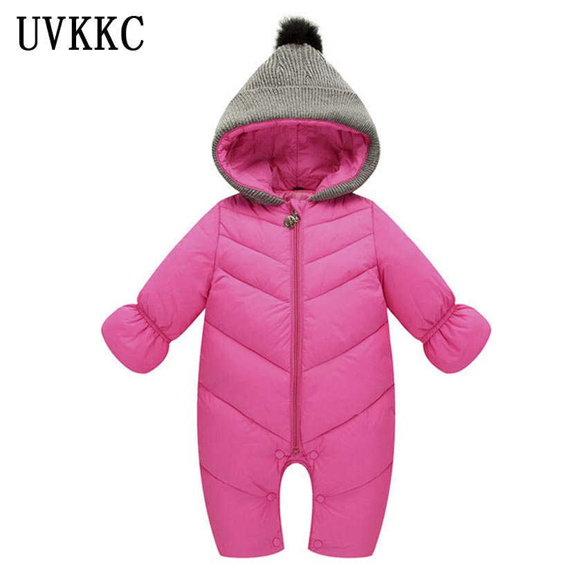 UVKKC Baby rompers winter upset polyester baby girl boy Snowsuit down long sleeve cotton Newborn clothes kids children jumpsuit newborn cotton cute white with loving heart baby rompers long sleeve soft colorful toddler baby boy girl clothes kids jumpsuit