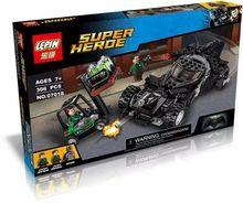 LEPIN 07018 Super Hero Batmobile Kryptonite interception Batman Minifigures Building Block Compatible with legoe 76045 Toys