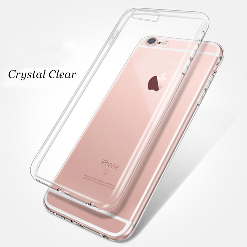 for iPhone X 8 7 Clear Soft TPU Silicon Phone Case Caso Coque for iPhone 7 Plus 6 6S Plus 5 5S SE 4 4S 4G Crystal Fundas Cover