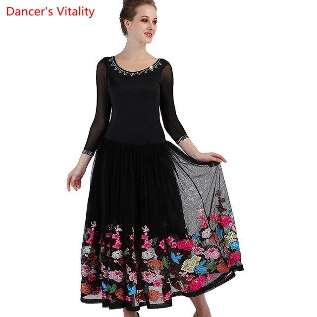 dd64145eb1d905 2018 nouvelles jupes de danse salle bal sur mesure pour les femmes jupe  longue valse Standard