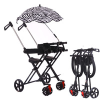 Children's Tricycle Twin Baby Stroller Easy Folding Child Four wheeled Double Stroller Baby Cart Travel Umbrella Car
