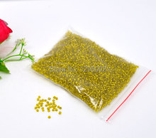 Free shipping 250g Wholesales Hot New Creation DIY Seed Beads Spacer Round Shape Yellow Glass Jewelry Component  2mm N90