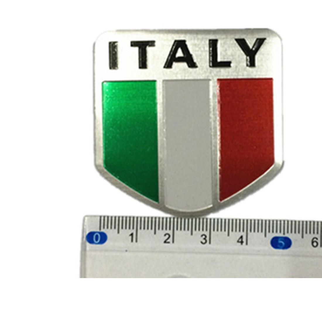 Aluminum Italian Flag Car Sticker Logo Emblem Badge For Iveco Lamborghini Alfa Car Stickers