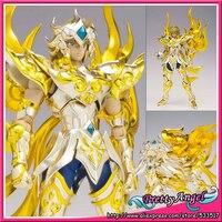Japanese Anime Original Bandai Saint Seiya Cloth Myth EX Soul of Gold God Leo Aiolia Action Figure