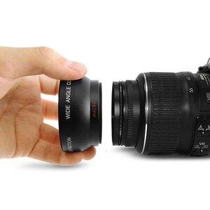 Image 2 - 0.45x52 mét 52 Fisheye Wide Angle Macro Chuyển Đổi Ống Kính Góc Rộng Túi 62 mét Cap cho Nikon D5000 D5100 D3100 D7000 D3200 D90 1 cái