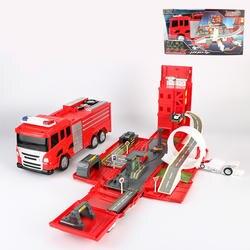 Легкий музыкальный пожаротушения грузовик литья под давлением Deluxe несколько сцена деформации спасательный автомобиль Развивающие ж