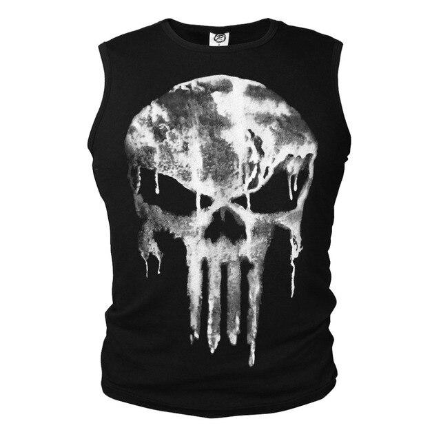 55effb2fd4fa3b The Punisher Slim Elastic Compression T-Shirt Cosplay Costume Tops Tees  Ghost Shirt Skull Sleeveless Vest S-XXXL Men s Women s
