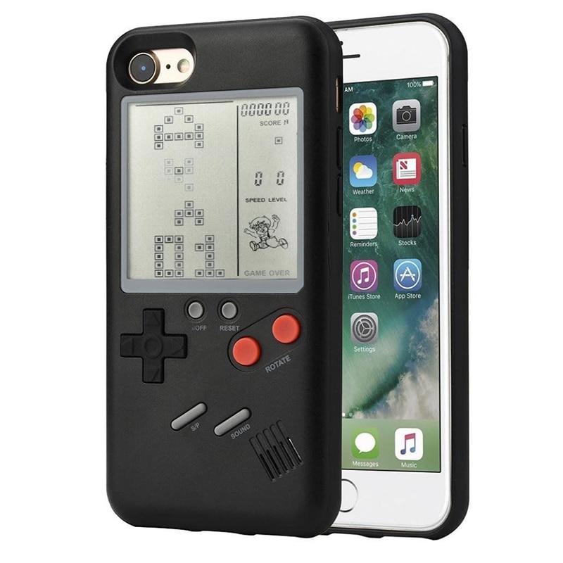 Khisol Spielkonsole Telefon Abdeckung Fall Für Iphone X 7 8 6 6 s Plus Multi Spiel Telefon Fall Tetris spiel TPU Zurück Abdeckung Für Iphone X