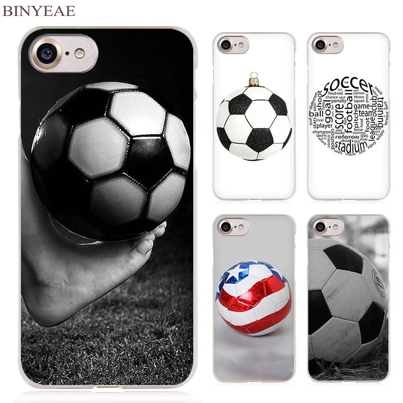 BINYEAE football soccer ball design Clear Cell Phone Case Cover for Apple iPhone 4 4s 5 5s SE 5c 6 6s 7 7s Plus