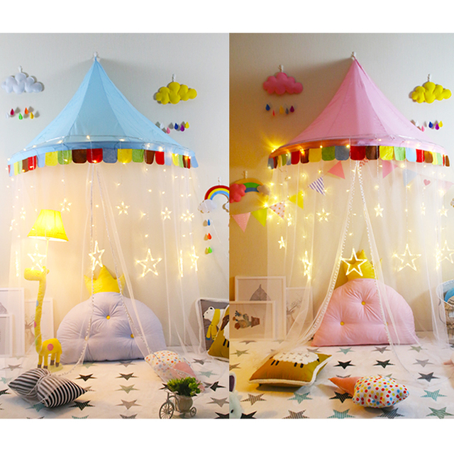 Play Tent Canopy Bed Curtains Indoor Pink Playhouse Perfect Gift for Kids Photography  sc 1 st  AliExpress.com & Play Tent Canopy Bed Curtains Indoor Pink Playhouse Perfect Gift ...