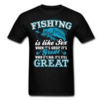 LEQEMAO Fishinger Seks Komik Alıntı erkek T-Shirt 2017 Yeni Gibi Olduğunu pamuk Üst Kalite Yeni Üst Tee T Shirt Komik Tops Tee gömlek