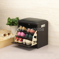 Small Size Shoe Racks hallway shoes changing bench Japanese Porch Shoe Ark Tipping Bucket Shoebox Export Furniture 43*30*43CM