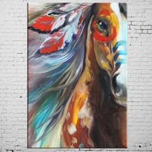 Modern Hand Painted Horse Oil Paints Abstract Pop Horse Oil Painting On Canvas Handmade Animal Indian Horse Paintings on canvas