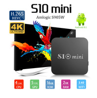 NEW S10 Mini TV Box Amlogic S905W 2GB RAM 16GB ROM 2.4G Android 8.1 4K TV Box WIFI 2.4G 100M LAN For Skype Youtube Facebook