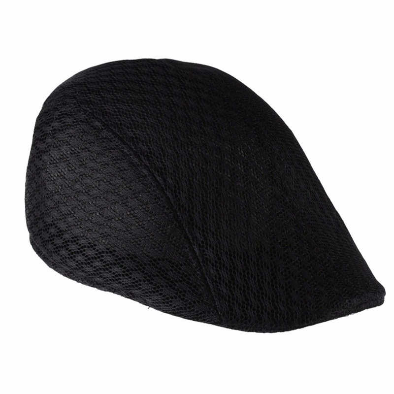 Летние унисекс для мужчин и женщин солнцезащитный сетчатый берет Newsboy Golf Cabbie плоская кепка кепки дышащие береты