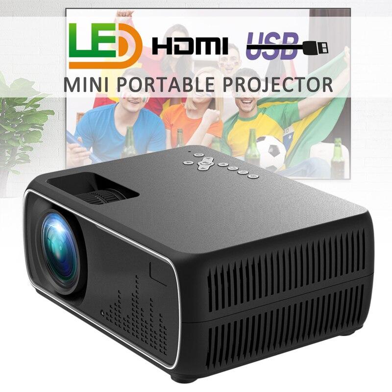 DH-A20 Lente de Cristal HD 800x480P proyector LED con el mismo proyector de vídeo de pantalla inalámbrico para Beamer de proyección de pantalla de 56-100 pulgadas Mini cámara para niños juguetes educativos para niños regalos para bebés cumpleaños cámara digital de regalo 1080P cámara de vídeo de proyección