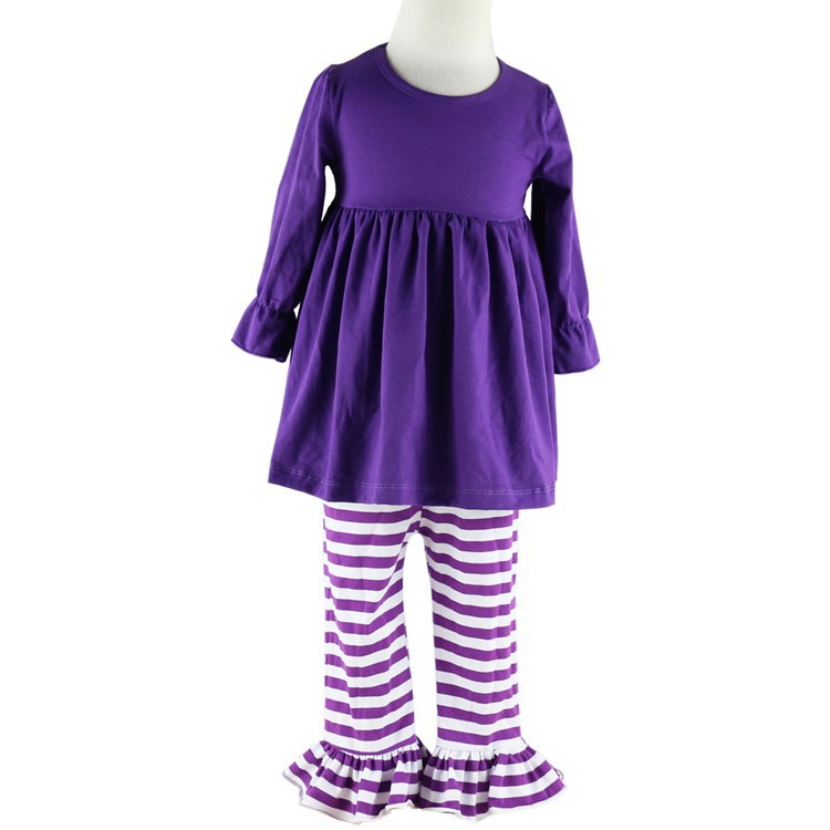 fbcac02e Factory Sale!long Sleeve Cotton Baby Girl Clothing Set,kids Solid ...