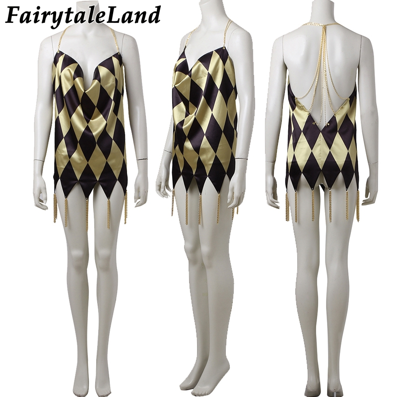 תחפושות ואביזרים Harley Quinn sexy dress Halloween costumes for adult women  cosplay Suicide Squad Harley Quinn cosplay costume custom made 2b5e76dd794a