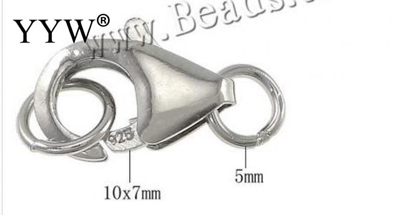 Sold By PC 925 Sterling Silver Lobster Claw Clasp For DIY Jewelry Necklace Bracelet Jump Rings Making Accessory Findigns