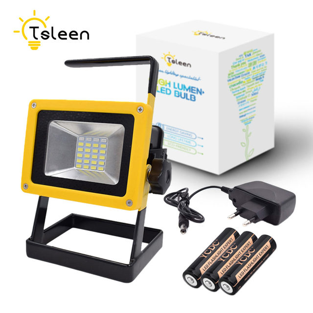Online shop tsleen waterproof 30w led flood light portable spotlight tsleen waterproof 30w led flood light portable spotlight 24led rechargeable floodlight outdoor work lampcharger3x18650 battery mozeypictures Gallery