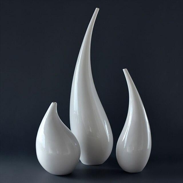 abstrakte große vase set dekorative weißen porzellan modernen ... - Grose Vasen Fur Wohnzimmer