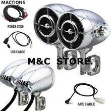 Haut parleur Audio pour motos, noir chromé, taille 1 /1.25, son Hi Fi, MP3/WMA, Bluetooth, USB/AUX, pour Harley