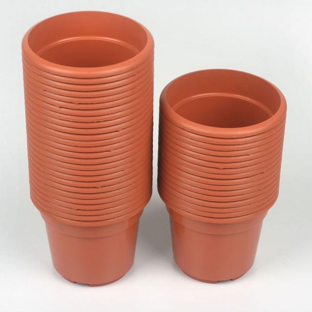 plants gardening supplies tools high quality christmas flower pot plastic flower pot brick red flower pot